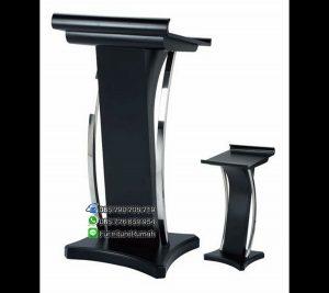 Podium Mimbar Minimalis Black Tiang Stainless FK-PM 119