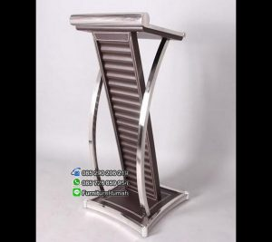 Podium Mimbar Minimalis Stainless Oscar Brown FK-PM 129