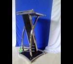 Produsen Podium Mimbar Minimalis Hitam Stainless FK-PM 133