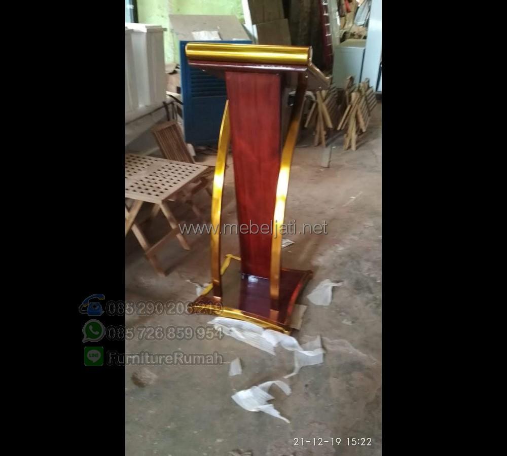 Contoh Mimbar Masjid Minimalis Furniture Stock Kode MJ PM 536