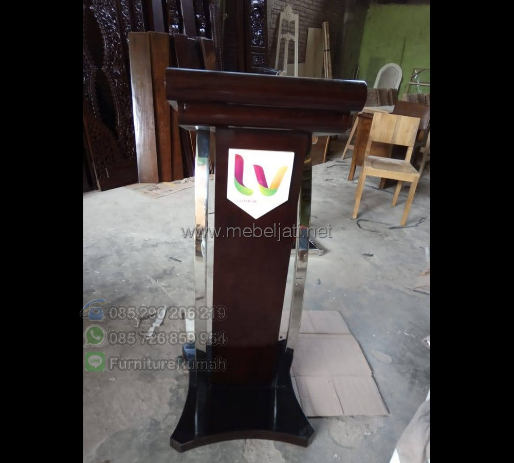 Harga Mimbar Kayu Jati Special Produk Terupdate MJ PM 473