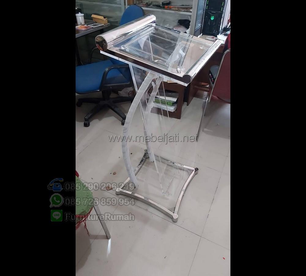Harga Mimbar Pidato Minimalis Asli Furniture Jepara MJ PM 551