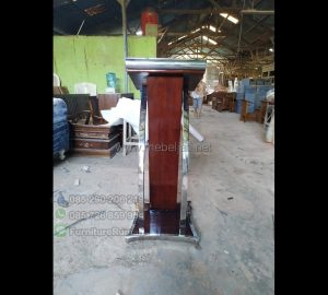Harga Podium Kayu Jati Desain Paling Laku MJ PM 140