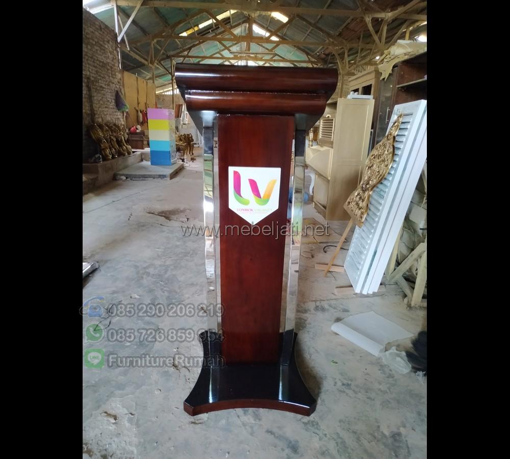 Harga Podium Stainless Steel Toko Online Furniture Minimalis MJ PM 117