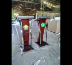 Mimbar Jati Tanpa Ukir Promo Stock Podium MJ PM 154