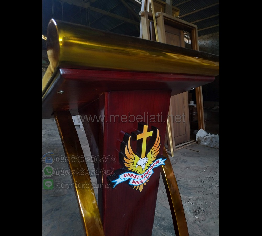 Mimbar Kayu Jati Ready Order 085290206219 MJ PM 611