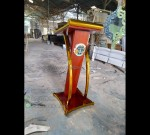 Mimbar Masjid Kayu Jati Desain Paling Laku MJ PM 284
