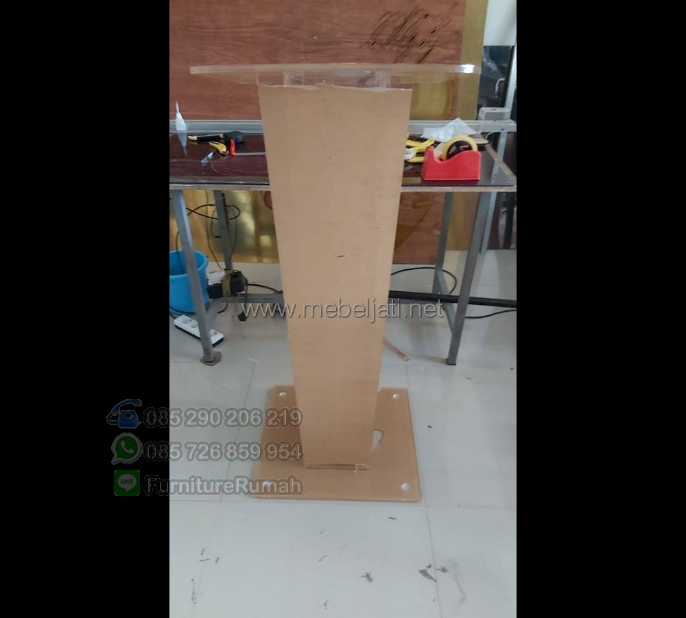 Mimbar Masjid Murah Promo Furniture Jati MJ PM 553