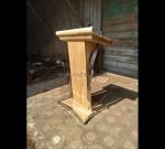 Mimbar Masjid Tanpa Ukiran Furniture Stock Kode MJ PM 224