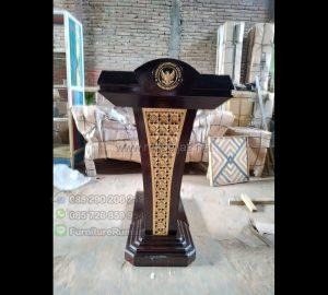 Mimbar Pidato Presiden Promo Furniture Jati MJ PM 385