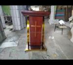 Podium Gereja Sederhana Asli Furniture Jepara MJ PM 239