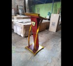 Podium Masjid Sederhana Furniture Stock Kode MJ PM 320