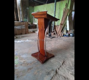 Podium Pidato Minimalis Furniture Stock Kode MJ PM 296