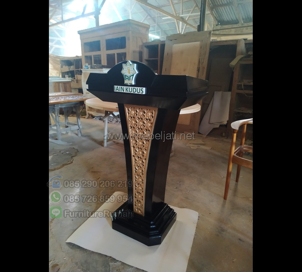 Ukiran Mimbar Masjid Furniture Best Seller MJ PM 211