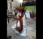 Ukiran Mimbar Masjid Model Produk Terbaru MJ PM 292